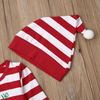 Baby Christmas Style Santa Design Long-sleeve Jumpsuit and Hat