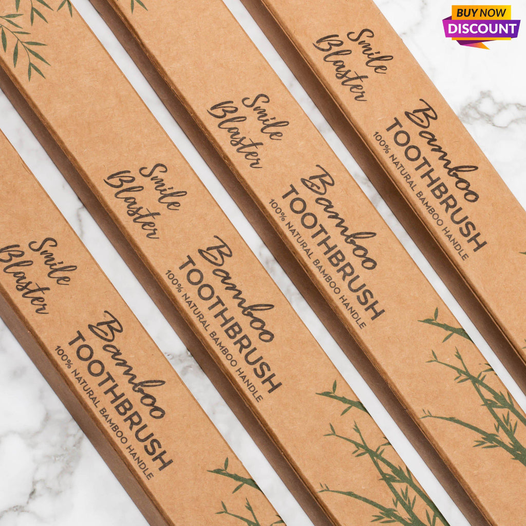 FREE Bamboo Toothbrushes - ONLY SHIPS WITH A KIT/BUNDLE - One Each Kit/Bundle-SmileBlaster