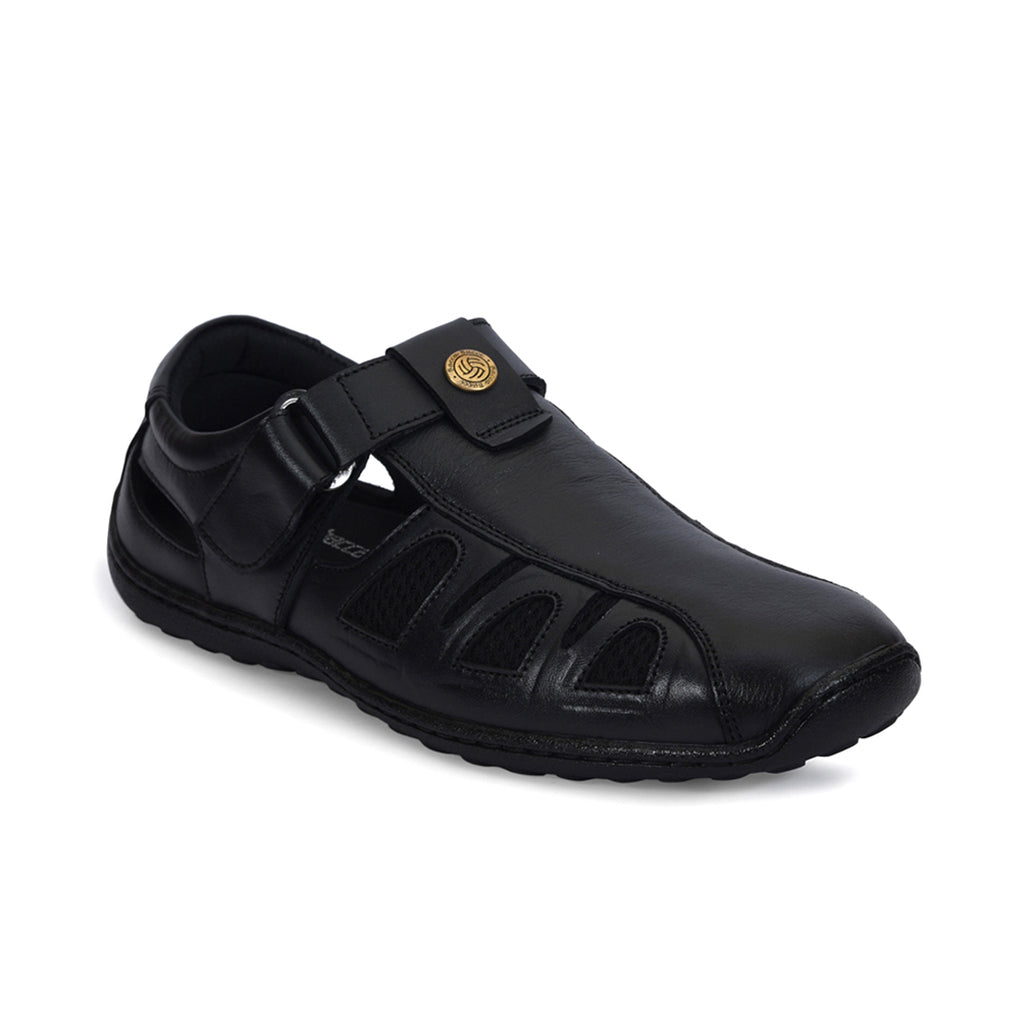 Bacca Bucci Men's Grain Leather Sandals - Bacca Bucci