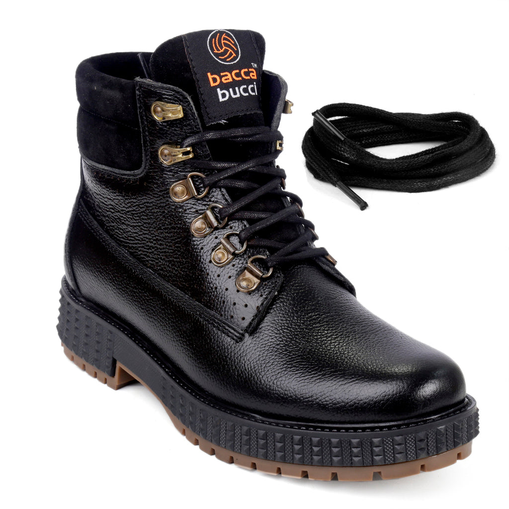 Bacca Bucci Men's Storm Surge Water Resistant Oil Full Grain Leather Boots - Bacca Bucci