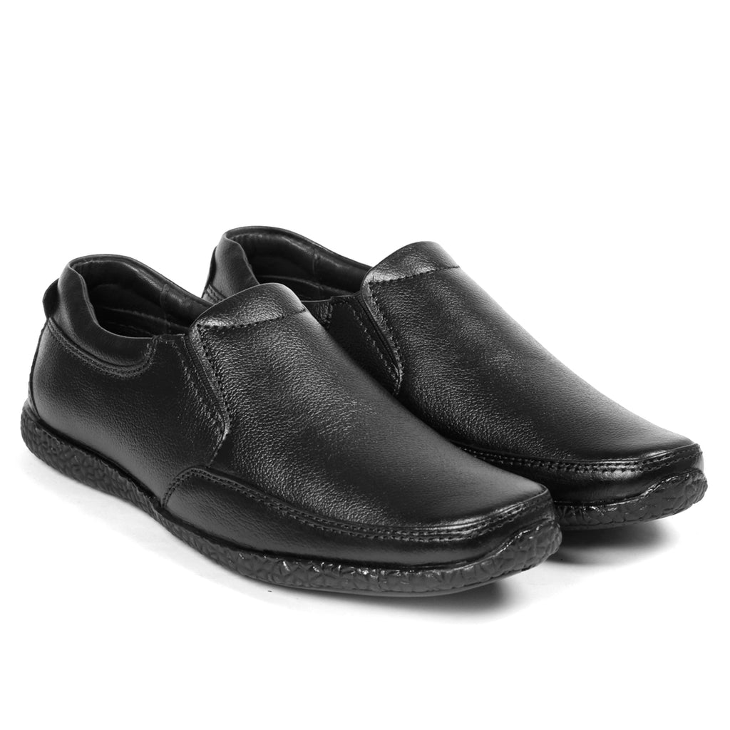 Bacca Bucci Men's Leather Dress Shoes Slip-on Plain Toe - Bacca Bucci