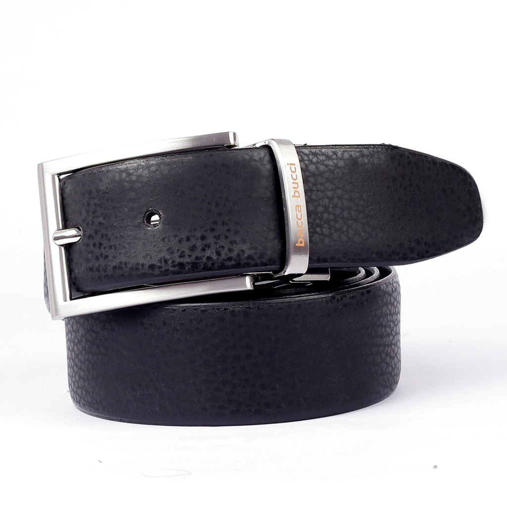 Bacca Bucci Reversible Classic Dress belt with Italian smooth Genuine leather Black & Brown - Bacca Bucci