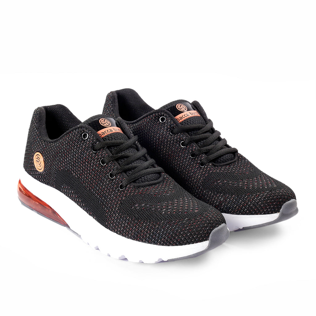 Bacca Bucci Trail Running Shoes Men - 3D Knit Air Cushion Athletic Sports Shoes - Bacca Bucci