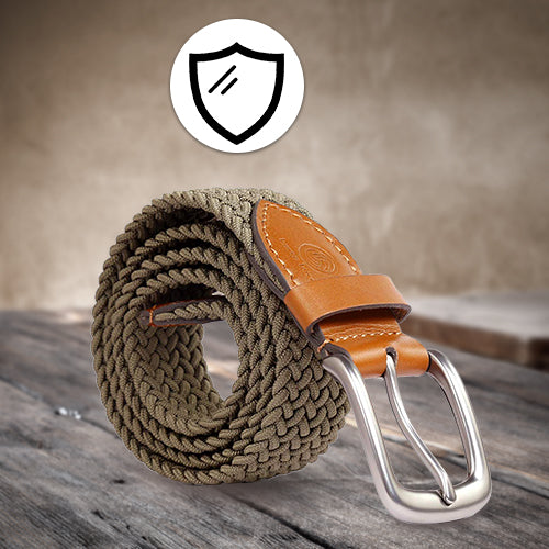 Elastic Braided Belt Golf Fabric Canvas Woven Stretch Belt - Bacca Bucci