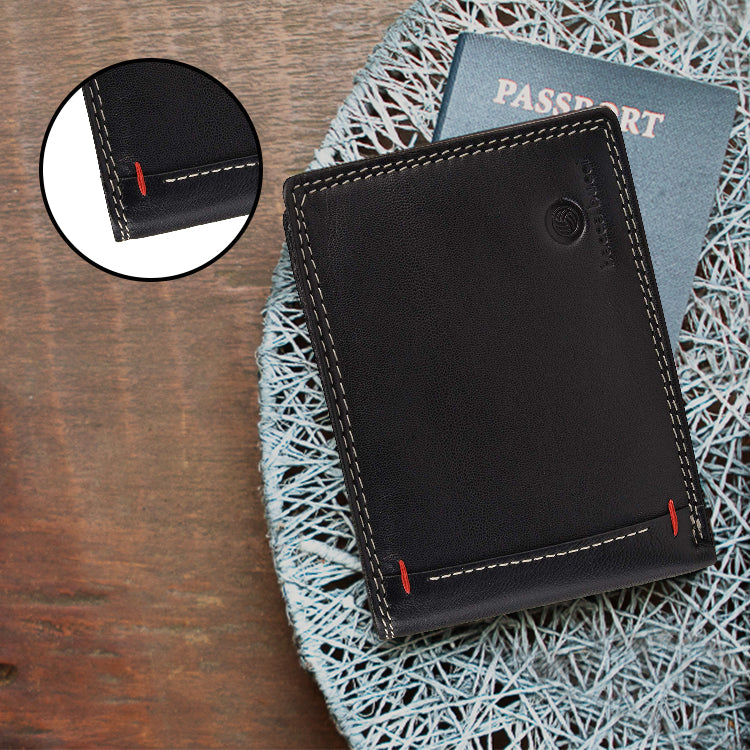 Bacca Bucci RFID blocking bifold wallet soft genuine vintage leather - Bacca Bucci