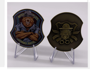 The Mystery of the MO Bear State Trooper Challenge Coin