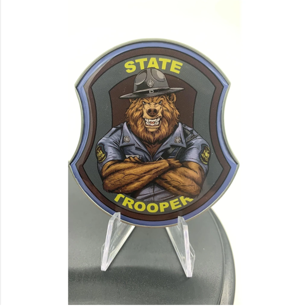 State Trooper Bear Challenge Coin