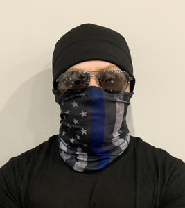Show Your Love for the Military with the Thin Blue line Neck Gaiter