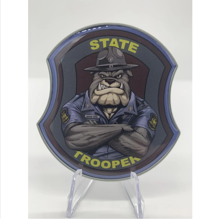 State Trooper Bulldog Challenge Coin