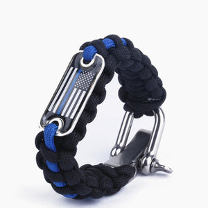 Use of Thin Blue Line Hand Bands to Spread Awareness About Back the Blue