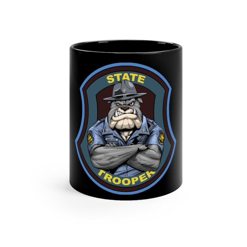 State Trooper Bulldog Coffee Mug-State Trooper Cup