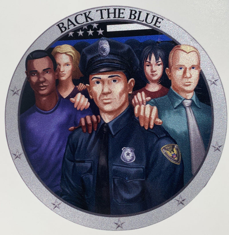 Back the Blue Police Officer Decal-Police Brand Memorabilia and Collectibles