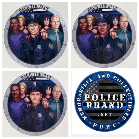 Back the Blue Police Officer Decal - Police Brand Memorabilia and Collectibles
