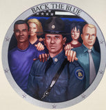 Back the Blue State Trooper Decal-Police Brand Memorabilia and Collectibles