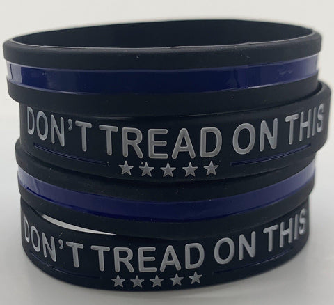 Don't Tread on This Thin Blue Line Bracelet-Police Brand Memorabilia and Collectibles
