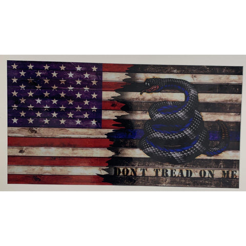 Enough is Enough Don't Tread on Me Gadsden Police Decal-American Thin Blue Line Flag
