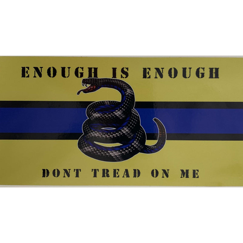Enough is Enough Don't Tread on Me Police Decal-Yellow Gadsden-Police Brand Memorabilia and Collectibles