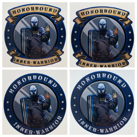 Honorbound Inner-Warrior Reflective Decal - Police Brand Memorabilia and Collectibles