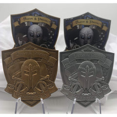 Challenge coins, police collectibles, police coins