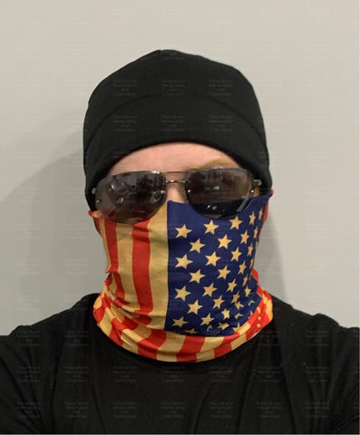 Neck Gaiter-American Flag Gaiter-Police Brand Memorabilia and Collectibles