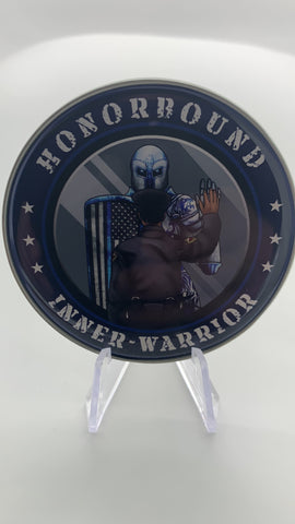 Honorbound Inner-Warrior Police Coin-Black Police Officer-Police Brand Memorabilia and Collectibles