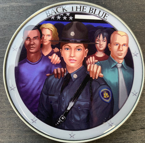 Back The Blue State Trooper Challenge Coin-White Female-Police Brand Memorabilia and Collectibles