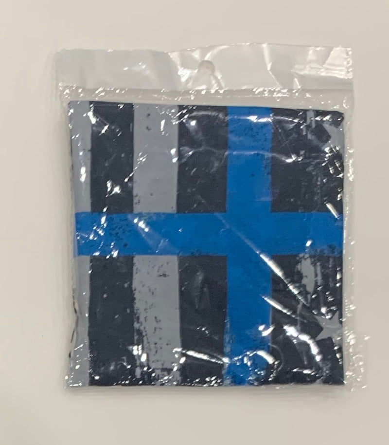 Neck Gaiter-Thin Blue Line Cross Gaiter-Police Brand Memorabilia and Collectibles