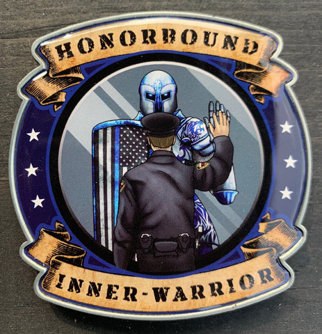 Honorbound Inner-Warrior Challenge Coin-Police Brand Memorabilia and Collectibles