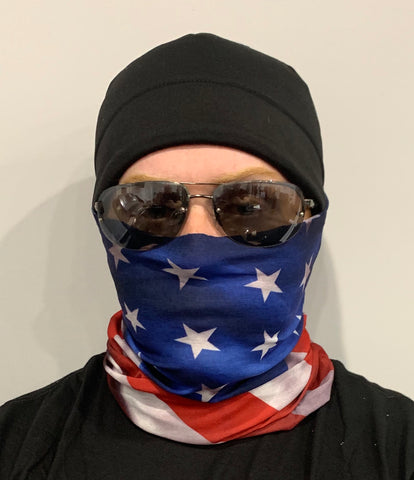 Neck Gaiter-America Flag Version 2 Gaiter-Police Brand Memorabilia and Collectibles