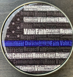 Back The Blue Sheriff's Deputy Challenge Coin-White Female-Police Brand Memorabilia and Collectibles