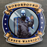 Honorbound Inner-Warrior Black Male Police Officer-Scroll-Police Brand Memorabilia and Collectibles