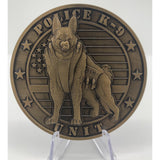 K9 Police Unit Challenge Coin-Police Brand Memorabilia and Collectibles