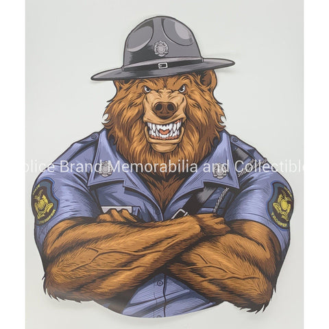 MO State Trooper Bear Only Sticker-Police Brand Memorabilia and Collectibles