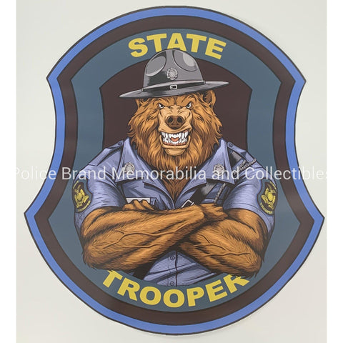 MO State Trooper Bear Sticker-Police Brand Memorabilia and Collectibles
