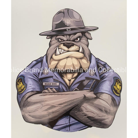 MO State Trooper Bulldog Only Sticker-Police Brand Memorabilia and Collectibles