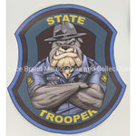 MO State Trooper Bulldog Sticker-Police Brand Memorabilia and Collectibles
