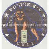 Police K9 Unit Sticker-Police Brand Memorabilia and Collectibles