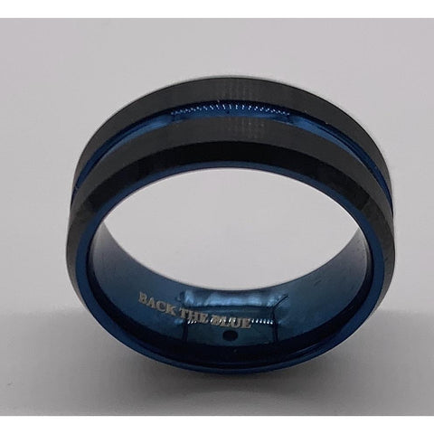 Thin Blue Line Ring-Back the Blue-Police Brand Memorabilia and Collectibles