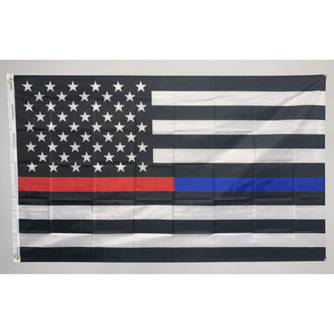 Thin Red and Blue Line Flag-Police Brand Memorabilia and Collectibles