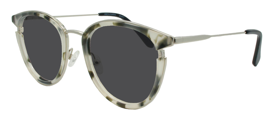 Black and White Tortoise and Silver sunglasses