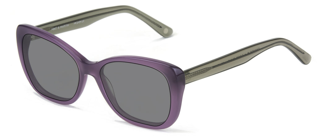 Beverly Hills Purple With Smoke Crystal Temples sunglasses