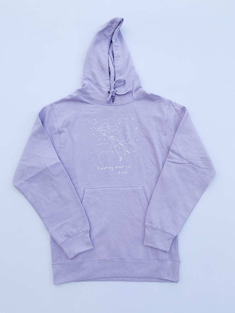 Arina X Unemploid Dreaming About You Hoodie Lavender