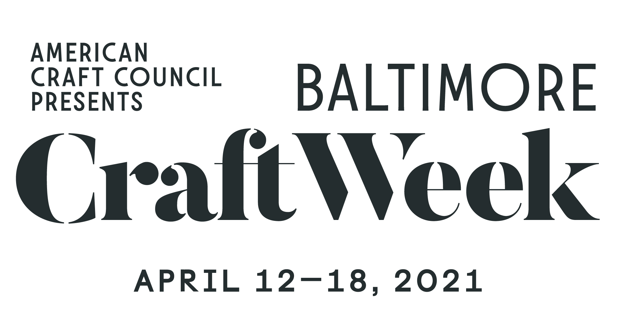 Baltimore Craft Week 2021
