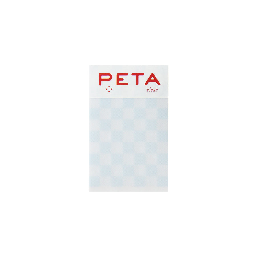 PETA clear S Blue Check