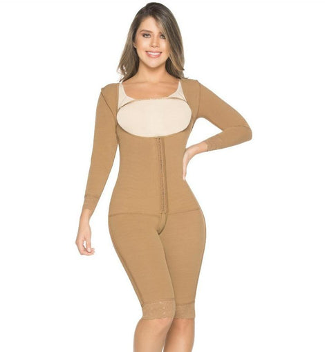 FAJA Enterizo con Mangas / Shapewear One Piece With Sleeves - Sexy Fajas Colombianas