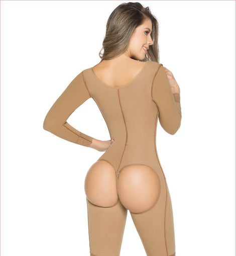 FAJA Post Enterizo Mangas / Shapewear One Piece Post Op Sleeves - Sexy Fajas Colombianas