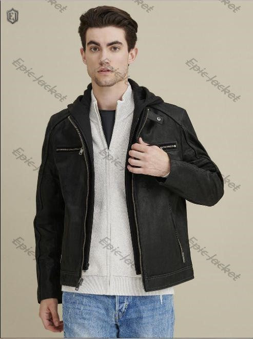 Epic Vintage Hooded Leather Jacket