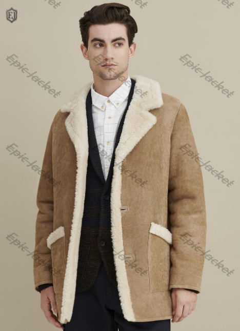 Epic Real Shearling Three Button Marlboro Coat