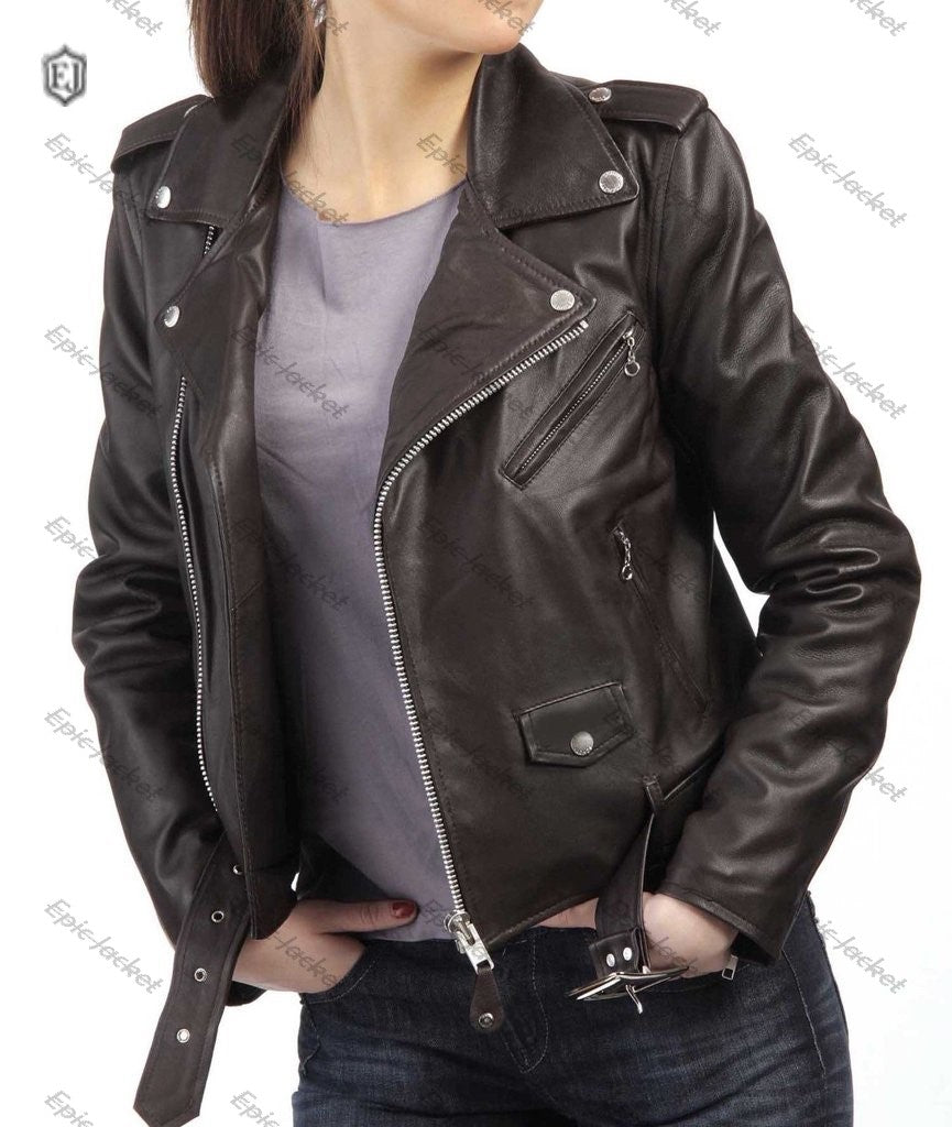 Epic Style Lambskin Women Leather Jacket