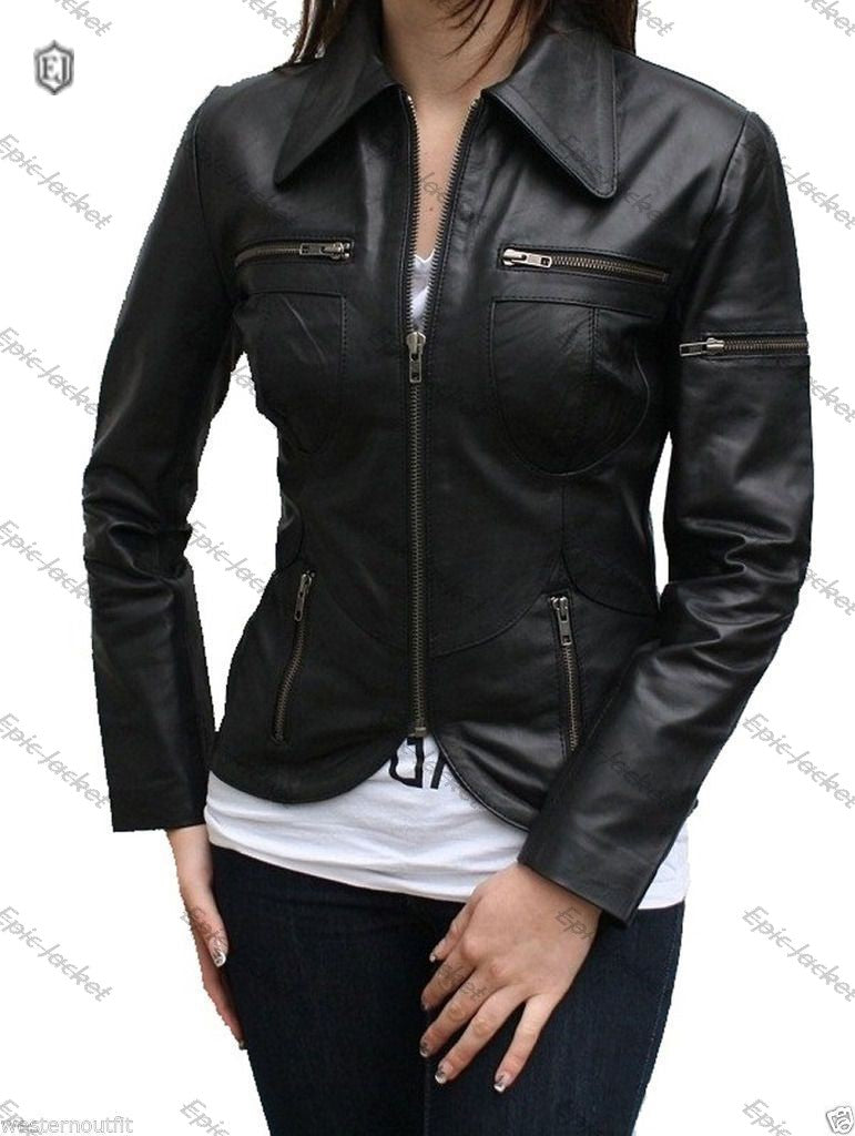 Epic Lambskin Biker Women Leather Jacket